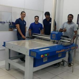 Instalação Mesa de Corte Digital Modelo Baby 1300 – Colorgraf Nordeste